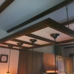 Spanplafond boven Eettafel